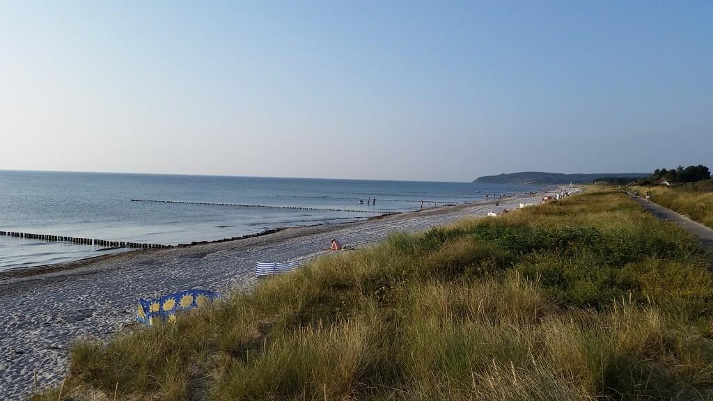 Stranden på dagtid.